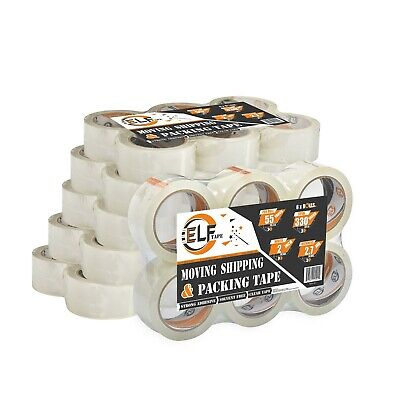 Elftape Packing Tape Rolls - 2.7 Mil Thick 2 Wide Clear Heavy Duty36 Rolls