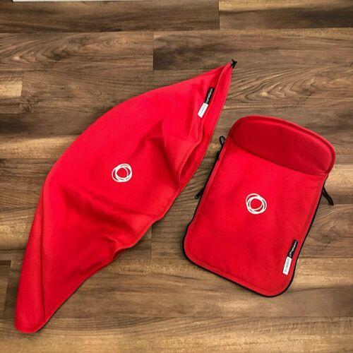 Bugaboo Cameleon 1 2 Bassinette Canopy & Apron Set Red