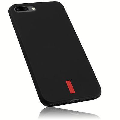 mumbi Hülle für iPhone 8 Plus / iPhone 7 Plus Schutzhülle SILIKON Case Schwarz ()