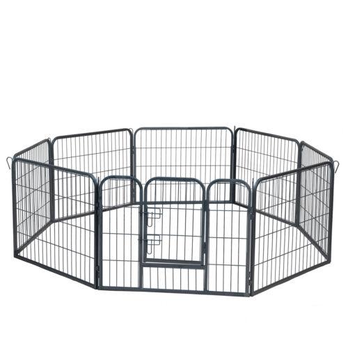 "Dog Pet Playpen Heavy Duty Metal Exercise Fence Hammigrid 8 Panel 24"""