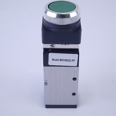 52 Way Pneumatic Valve With Push Button In Green 14 Npt Msv86522pp