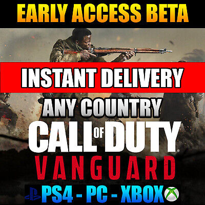 Call Of Duty CoD Vanguard Early Access Beta Code - PS4 / PS5 / Xbox / PC
