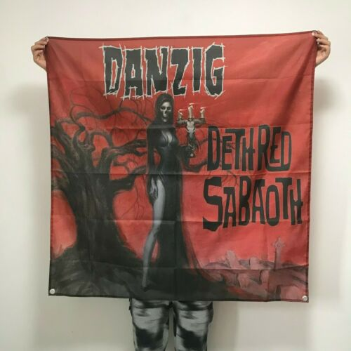 Danzig Banner Deth Red Sabaoth Flag Album Cover Wall Tapestry Art Poster 4x4 ft