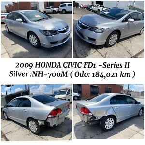 🔥 Wrecking 2009 Honda Civic FD1 - Series II 1.8L R18A Sedan in silver Colour Odometer : 184,021 km West Footscray Maribyrnong Area Preview