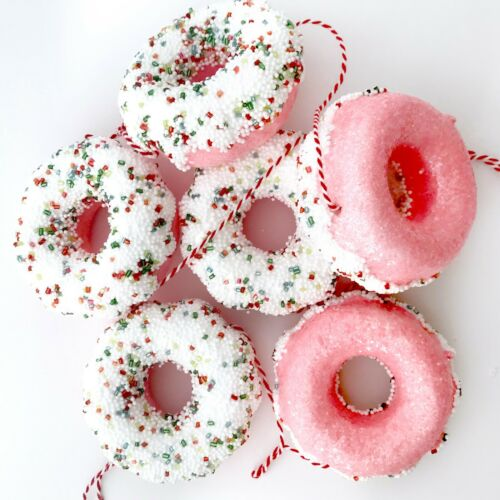 Pink Frosted Doughnut Garland Christmas Tree Decoration Ornament R