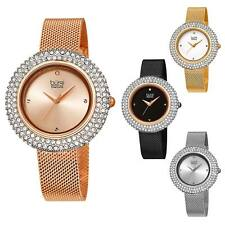 Women's Burgi BUR220 Swarovski Diamond Dial Stainless Steel Mesh Bracelet Watch