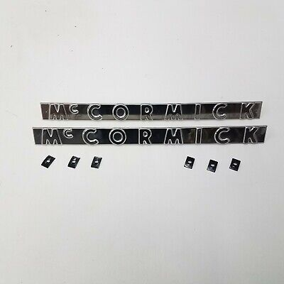 New Farmall 300 350 400 450 Mccormick Side Emblem With Nuts Set Of 2