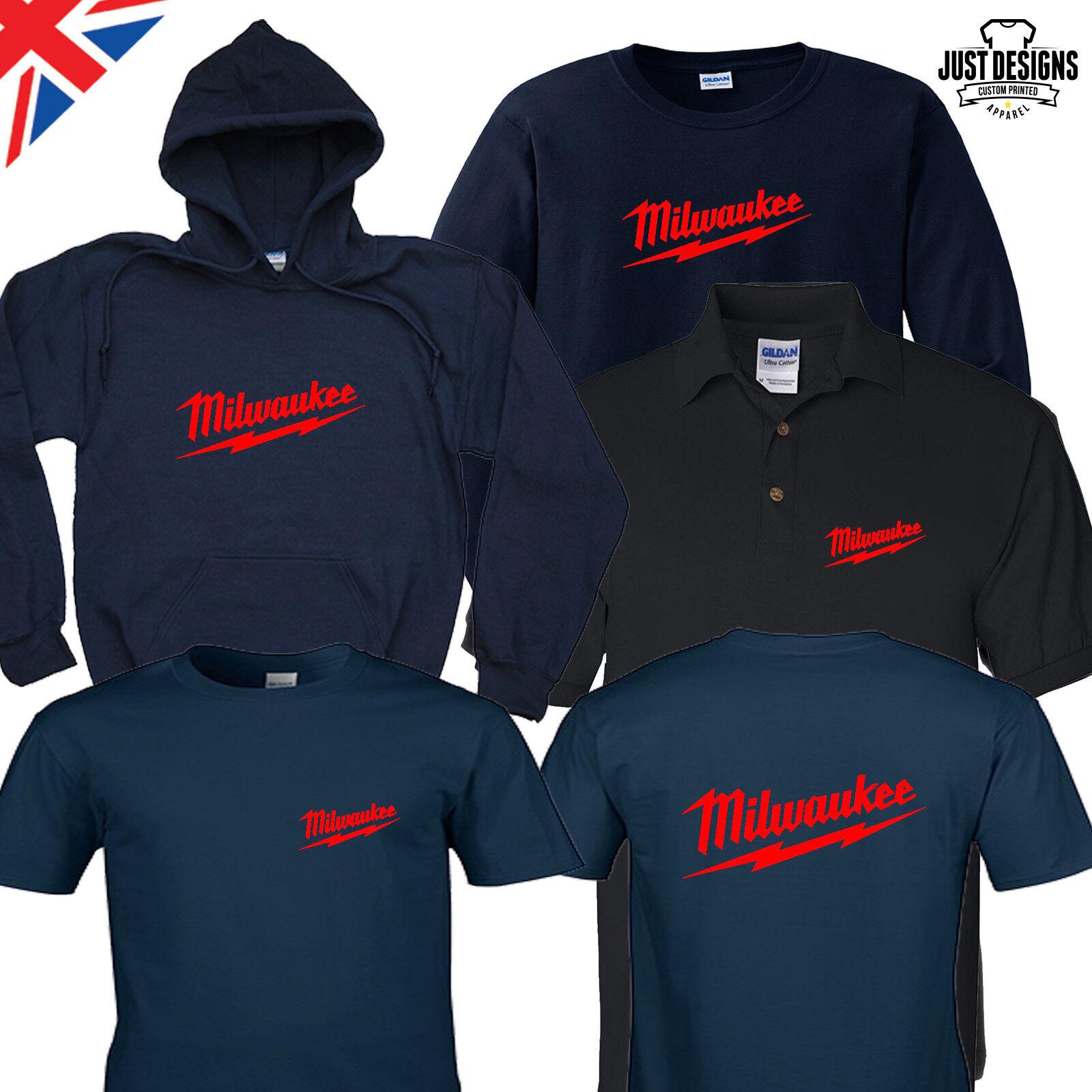 Milwaukee Navy T-shirt Hoodie Polo Shirt Jumper S-5XL Power
