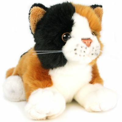Caliope the Calico Cat | 7 Inch (Without tail!) Stuffed Animal Plush Kitten (Plush Cat)