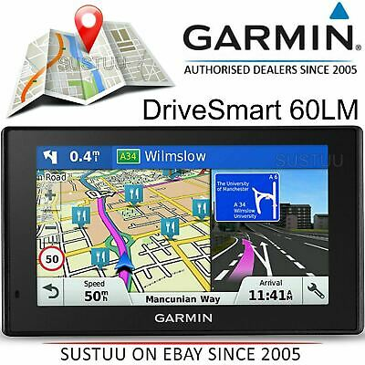 "Garmin DriveSmart 60LM 6"" Car GPS Sat Nav│Free Lifetime UK Western Europe Maps"