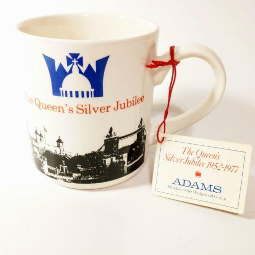 The Queen's Silver Jubilee 1977, commemorative mug, Adams Real English Ironstone
