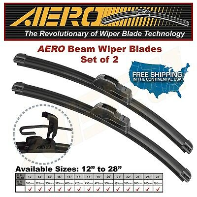 AERO 26  16 OEM Quality Beam Windshield Wiper Blades Set of 2