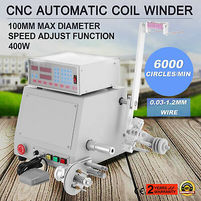 New 220v 0.03-1.2mm Computer Controlled Coil Transformer Winder Winding Machine