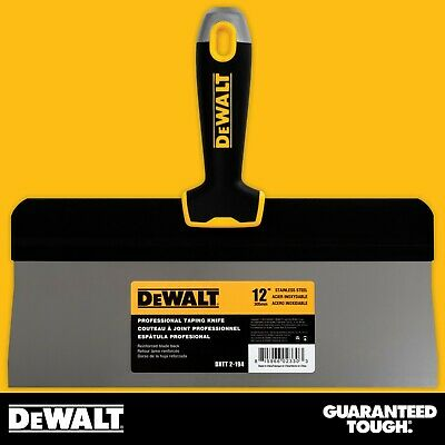 Dewalt Taping Knife 12 Stainless Steel Big Back Drywall Taping Tool