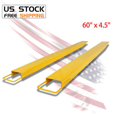 60 X 4.5 Pallet Jack Fork Extension For Forklifts Lift Truck Slide On Clamp