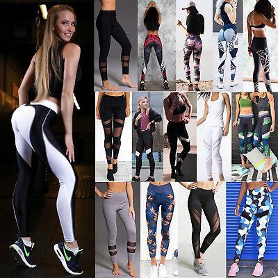 Women Waist Yoga Fitness Leggings Running Gym Stretch Sports Pants Trousers Lot