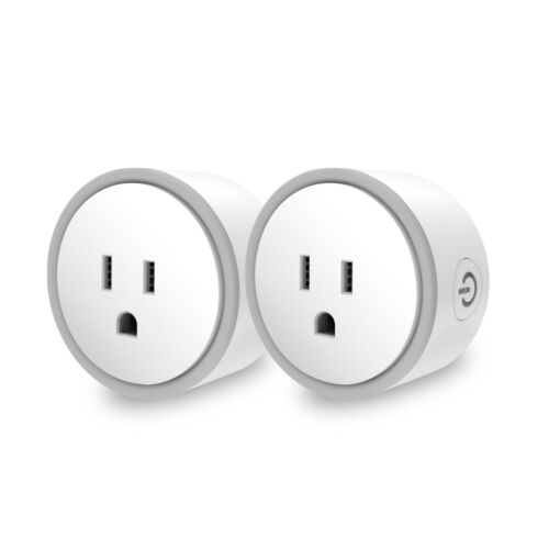 Alexa/Google Home-Compatible Smart Plug - Works With iOS/Android App (2-pack)