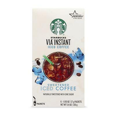 Starbucks VIA Instant Sweetened Cane Sugar Iced Coffee Packets 5.6 oz -