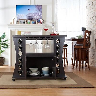 Buffet Server Sideboard - Sideboard Buffet Table Server Kitchen Bar With Wine Rack Storage Cabinet Dining