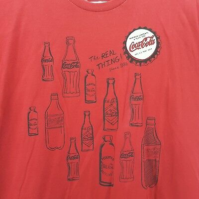 Coca Cola T Shirt Red Large 100% Cotton ALSTYLE