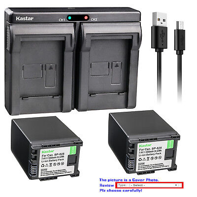 Kastar Battery Dual Charger for Canon BP-820 BP-828 & Canon VIXIA HF G21 Camera