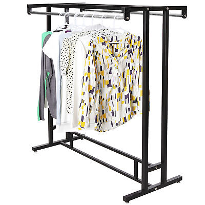 Stainless Steel Double Rod Hangrail Department Store Style Clothesgarment Rack