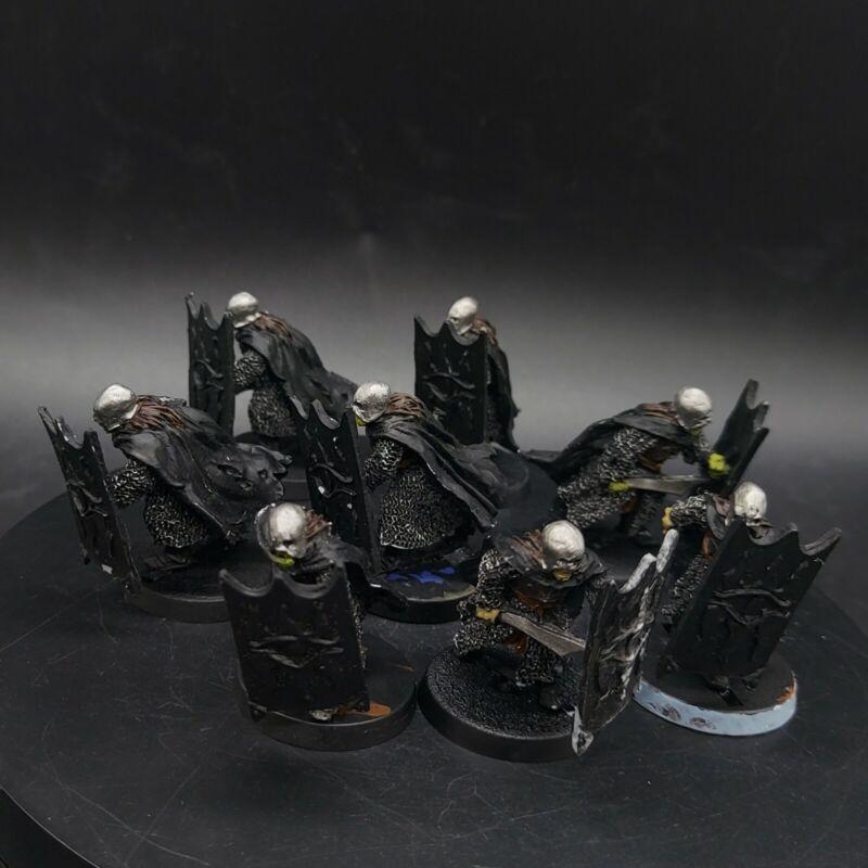 PART PAINTED Warhammer LoTr Black guard of Barad-Dur ×8 games workshop 28mm