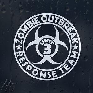 Zombie-Outbreak-Response-Team-Unit-3-Car-Decal-Vinyl-Sticker-For-Panel-Bumper