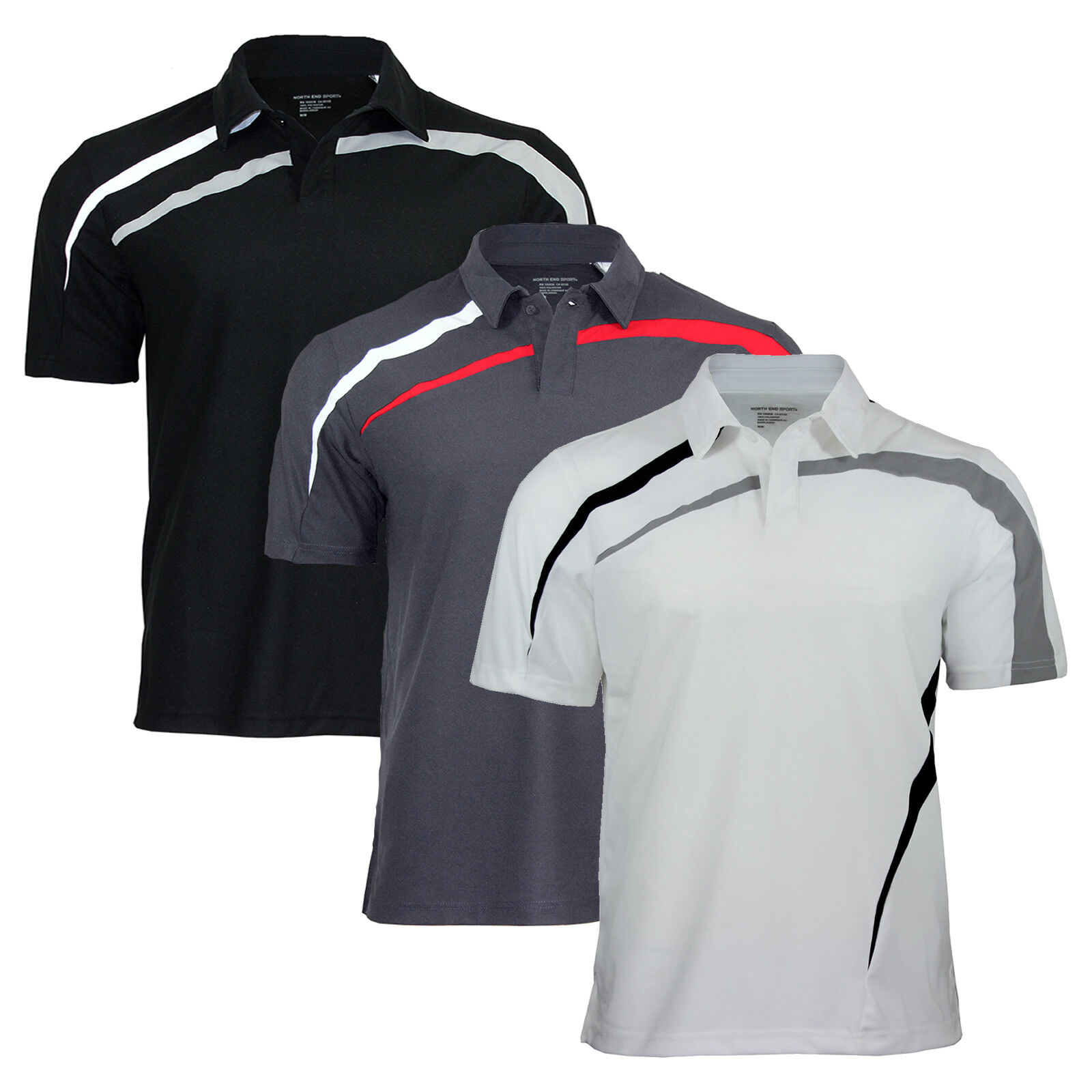 Men's North End Polo Shirts for Golf, Tennis, Gym, Cycling and Sports Activity