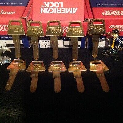 10 Original American Lock Company U.s.a. Padlock Key Blanks 5 Pin
