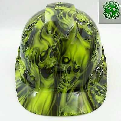 Hard Hat Custom Hydro Dipped Osha Approved Seehear No Evil Skulls New