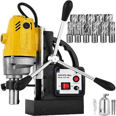 Taladro Magnetico 1100W 40 mm Taladradora de Núcleo + Set 11 brocas HSS 12000N