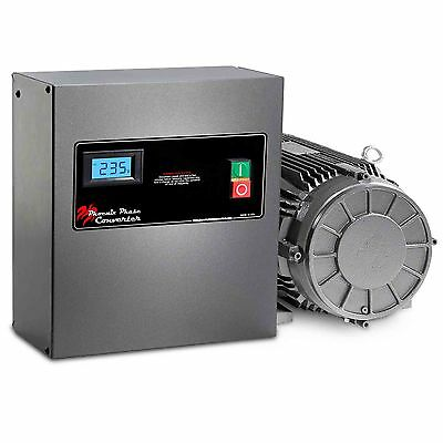 3 Hp Rotary Phase Converter - Tefc Voltage Display Power Protected - Gp3plv
