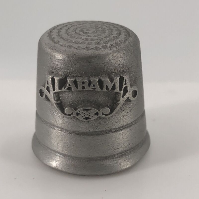 Vtg My Homes in Alabama Band Country Music Collectible Rawcliffe Pewter Thimble