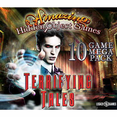 Computer Games - Amazing Hidden Object Games Terrifying Tales 10 Game Mega Pack PC Computer