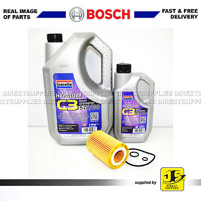 BOSCH SERVICE KIT HONDA CIVIC 2.2 CDTi (N22A2) OIL FILTER & 6 LITRES ENGINE OIL