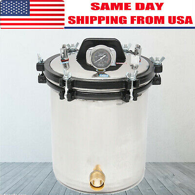 18l Bottle Steam Autoclave Sterilizer Dental Pressure Sterilization Dual Heating