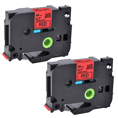 2pk Compatible Brother P-touch Tz-441 Tze-441 Black On Red Label Tape 0.7