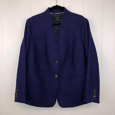 Talbots Woman Wool Blazer Suit Jacket Purple Plus Size 16W
