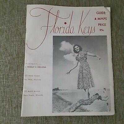 VTG FLORIDA KEYS, FLA. FLORIDA KEYS GUIDE & MAPS-1953
