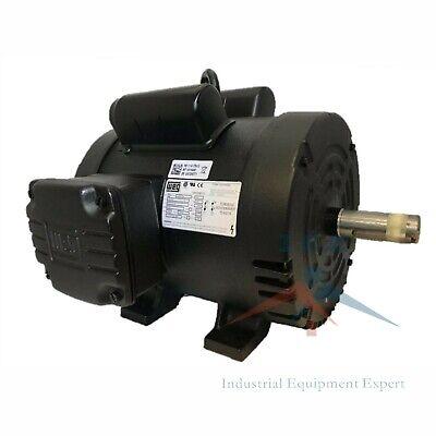 5 Hp Air Compressor Duty Electric Motor 184t Frame 1750 Rpm Single Phase Weg New