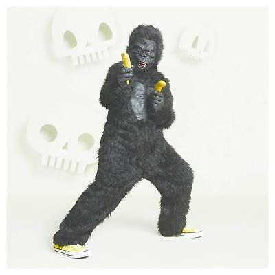 Hyde & Eek Gorilla Halloween Deluxe Kids Costume Jumpsuit Mask Ape Black LARGE](Kids Gorilla Halloween Costume)