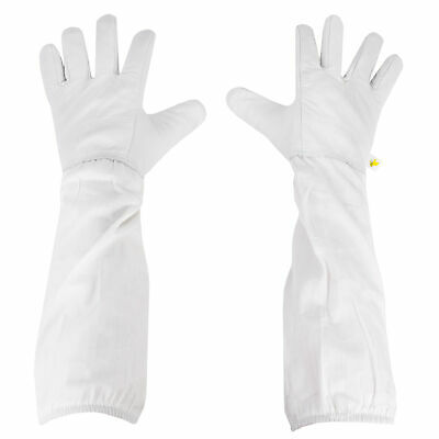 X-large Xl Beekeeping Gloves Leather Bee Keeping With Sleeves From Vivo