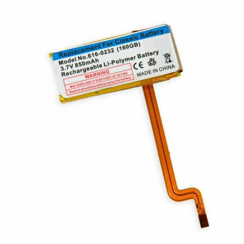 850 mAh Replacement Battery iPod Classic 5th 6th Generation A1238 A1136 Thick