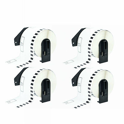 4rolls Dk2205 Continuous Labels W4 Frame Compatible For Brother Ql-570 Printer