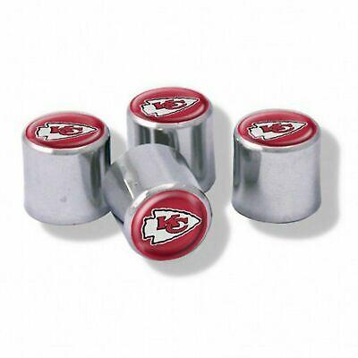 NEW Kansas City Chiefs Football Chrome Tire Valve Stem Caps w/ Team - Football Team Colors