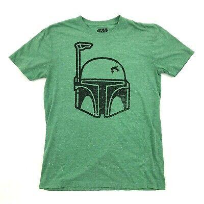 STAR WARS Boba Fett Helmet Shirt Adult Medium - Star Wars Green Guy