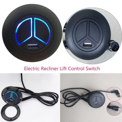 5Pin Electric Recliner Lift Control Switch LED 2 Button Powe
