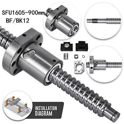 RM1605-900mm Tornillo Husillo de Bola +BF12/BK12 Calidad Aguante +Acoplador