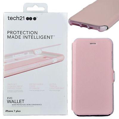 Genuine Tech21 Evo wallet flip book case cover apple iphone 7 8 plus 5.5 pink segunda mano  Embacar hacia Spain